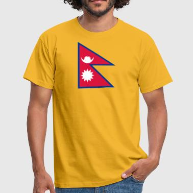 National Flag Of Nepal - Men's T-Shirt
