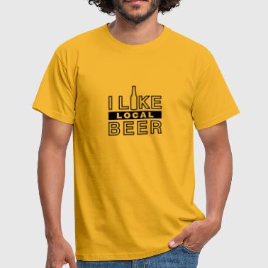 I like local beer - Männer T-Shirt