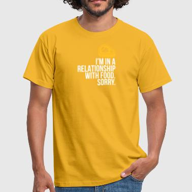 I Am Porn I Am In A Relationship With Food - Men's T-Shirt
