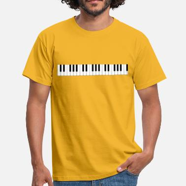 Octave The keyboard of the piano - Men's T-Shirt