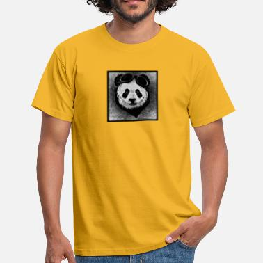 Black And White Panda Panda - black / white - Men's T-Shirt