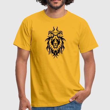 tribal tattoo loewe wildes tier - Männer T-Shirt