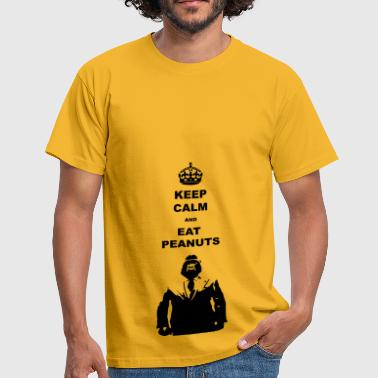 Keep calm eat pindas - Mannen T-shirt