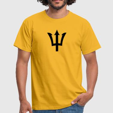 barbados broken trident  - Men's T-Shirt