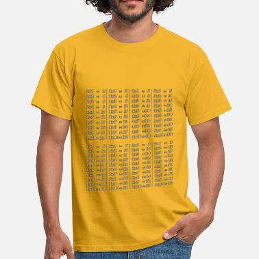Learning its multiplication tables - Men's T-Shirt