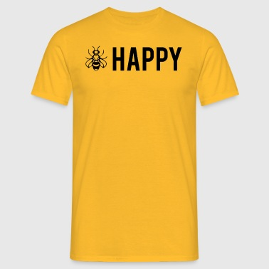 Bee Happy - Be Happy - Koszulka męska