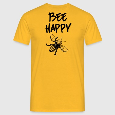 ++Bee Happy++ - Männer T-Shirt