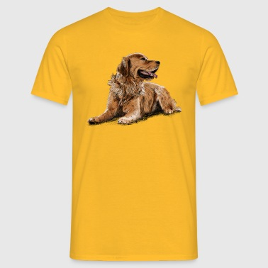 Golden Retriever - Mannen T-shirt