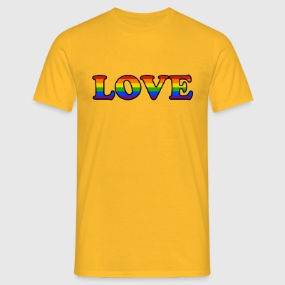 LOVE 1 - Mannen T-shirt