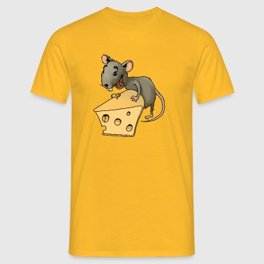 Fiese mouse rodent mouse vermin rodent cheese - Men's T-Shirt
