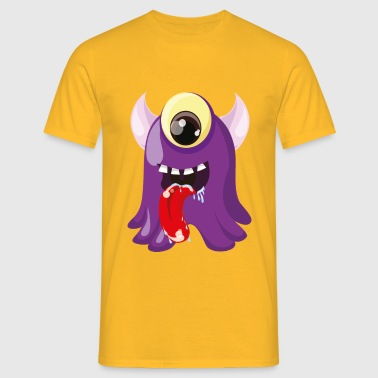 Monster Sabberschleck - Mannen T-shirt