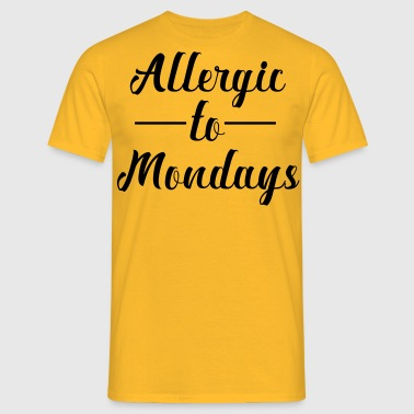 Allergic to assembly - Men's T-Shirt