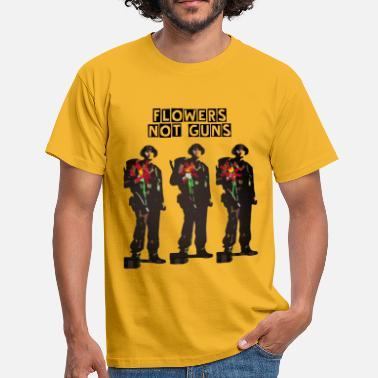 Ww1 flowers not guns - Men's T-Shirt