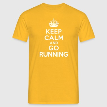 Keep calm and go running - T-shirt Homme