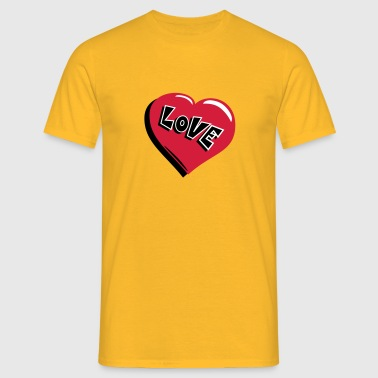 heart Love - T-shirt herr