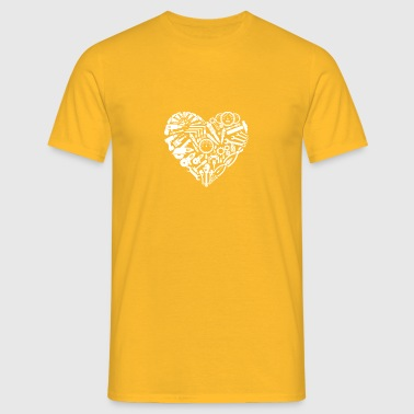 mechanic heart - Men's T-Shirt