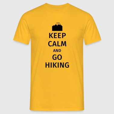 Keep Calm and Go Hiking - Men's T-Shirt