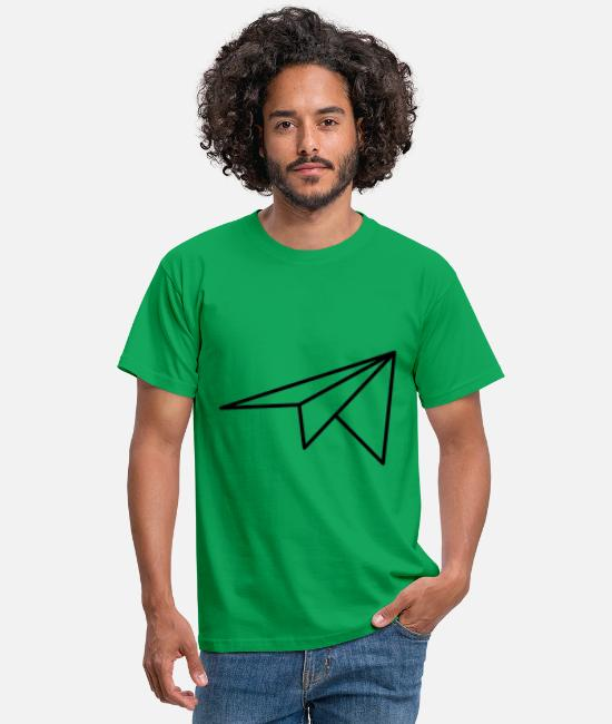Concept T-Shirts - paper plane - Men's T-Shirt kelly green