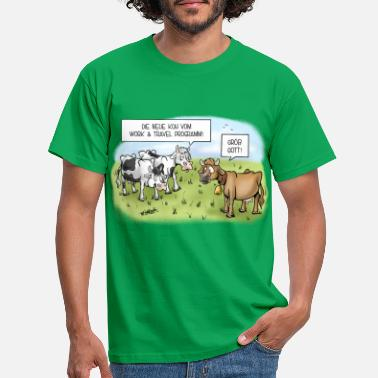 Natur Work & Travel Kühe - Männer T-Shirt