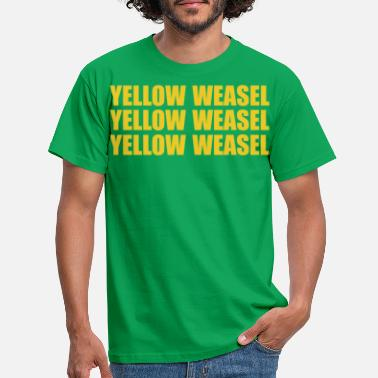 Green Bay Packers Green Bay Packers Yellow Weasel T Shirt - Men's T-Shirt