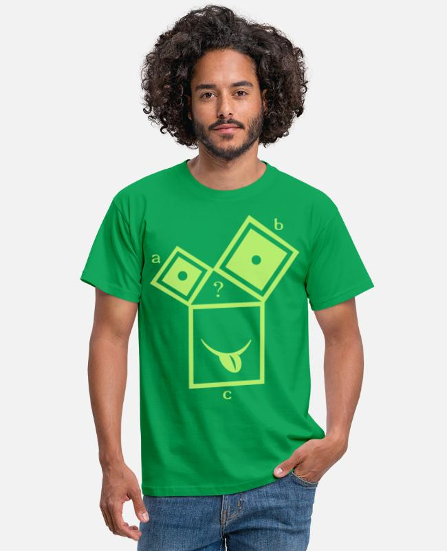 Pythagorean T-Shirts - nerdthagoras - Men's T-Shirt kelly green
