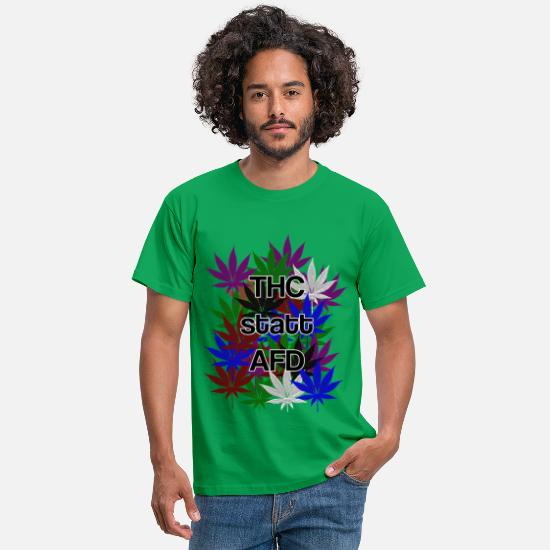 Politics T-Shirts - THC instead of AFD - Men's T-Shirt kelly green
