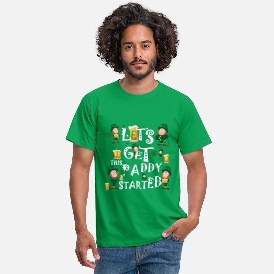 Day T-Shirts - Happy St Patrick s Day - Men's T-Shirt kelly green