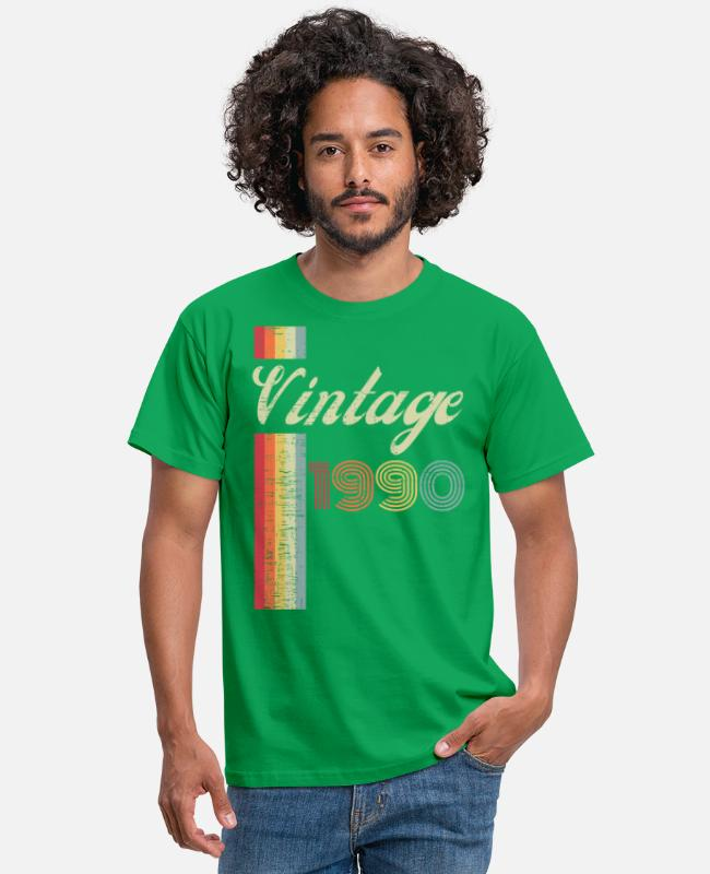 Hipster T-Shirts - Classic Stylish Vintage 1990 Vibes Retro 30th Bday - Men's T-Shirt kelly green