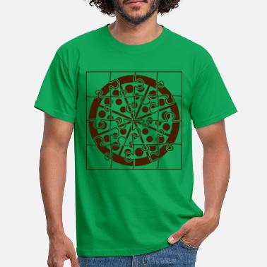 Hunger salami puzzle pizza fast food essen lecker hunger - Männer T-Shirt