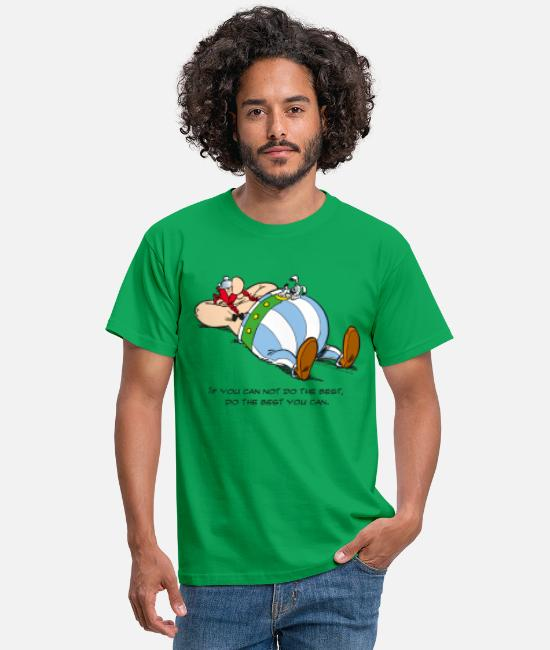 2019 T-Shirts - Asterix & Obelix - If You Can Not Do Best - Men's T-Shirt kelly green
