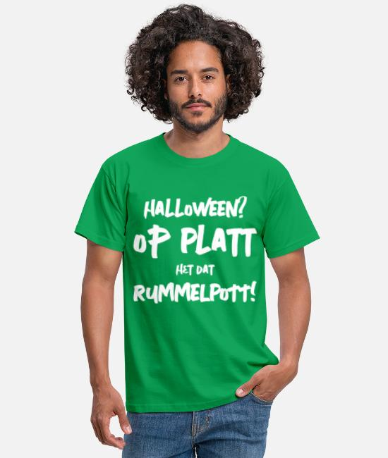 Quote T-Shirts - Halloween vs Rummelpott - Low German sayings - Men's T-Shirt kelly green