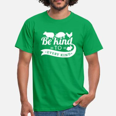 To Be kind to every kind - vegan vegetarian gift - T-skjorte for menn