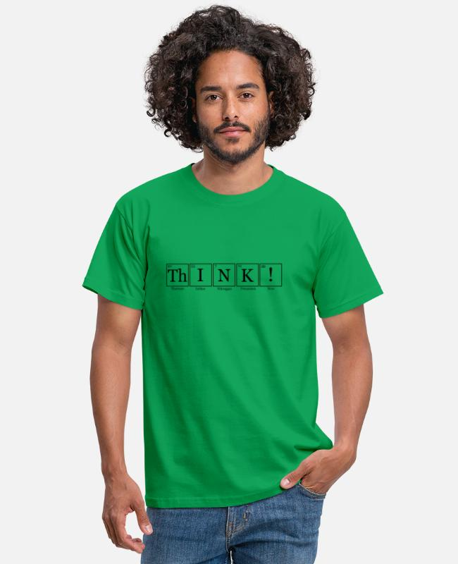 Periodic Table T-Shirts - ThINK names - Men's T-Shirt kelly green