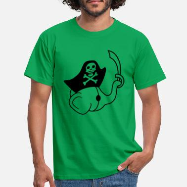 Piratenbaai saebel piratenolifant kapitaen matroos zwaard m - Mannen T-shirt