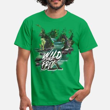 Wild Free Rabbit - Men's T-Shirt