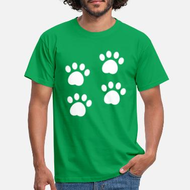 Paw Dog paw dog day Ugly Christmans best friends - Men's T-Shirt