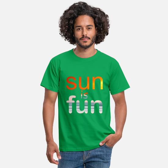 Fundraiser T-Shirts - sun is fun - Men's T-Shirt kelly green