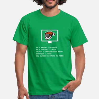 Christmas SQL Clause programmer IT gift - Men's T-Shirt