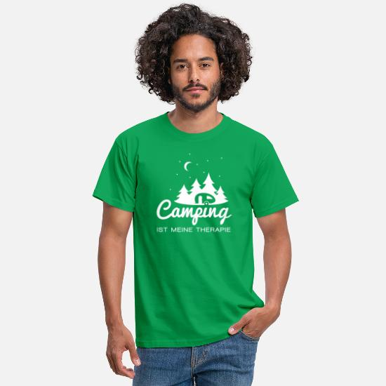 Camping T-Shirts - Camping Therapie - Männer T-Shirt Kelly Green