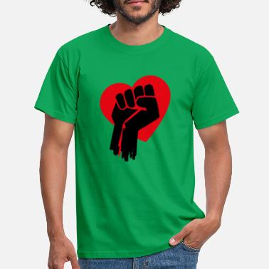 Fist Heart 1 - Men's T-Shirt
