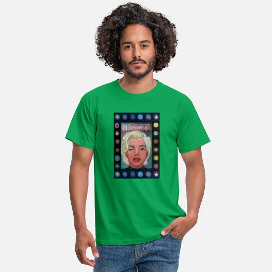 Schland T-Shirts - marilyn with stars b - Men's T-Shirt kelly green