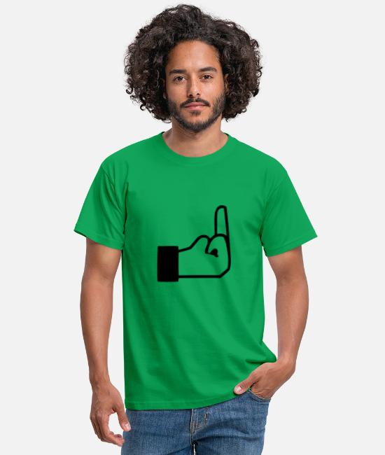 Fuck Yeah T-Shirts - middle finger 01 - Men's T-Shirt kelly green