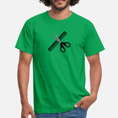 Scissors Scissors and comb - Men's T-Shirt