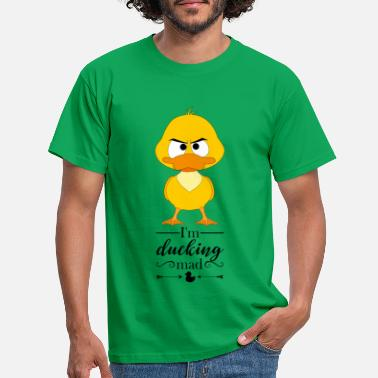 Wortspiel Angry duck: I'm ducking mad - Männer T-Shirt