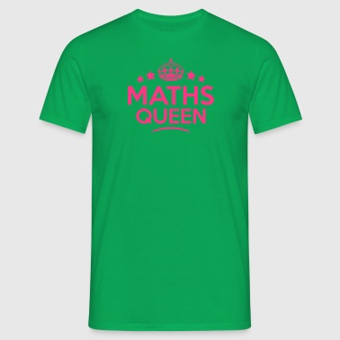 maths queen keep calm style copy - Camiseta hombre