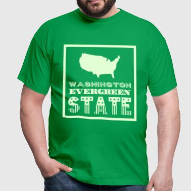 WASHINGTON EVERGREEN STAT - T-shirt Homme