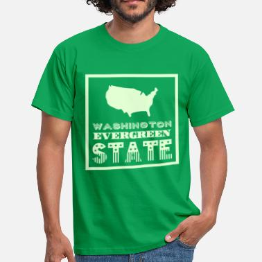 Evergreen WASHINGTON EVERGREEN STAT - T-shirt Homme
