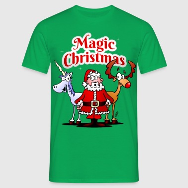 Magic jul med en enhjørning - Herre-T-shirt