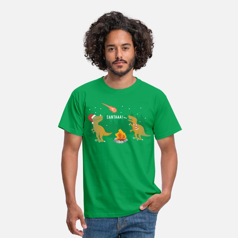 Ugly Christmas T-Shirts - Merry Extinction - Men's T-Shirt kelly green