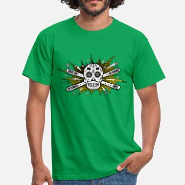 Sugarskull No Friends - Skiing Sugarskull - Männer T-Shirt